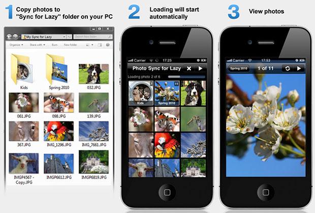 Автоматическая синхронизация фотографий по Wi-Fi с компьютера на iPhone