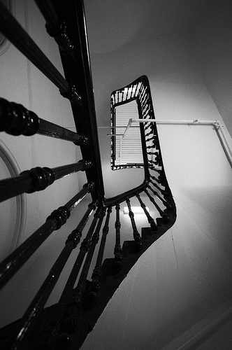 Spiral staircase at Melbourne's GPO building