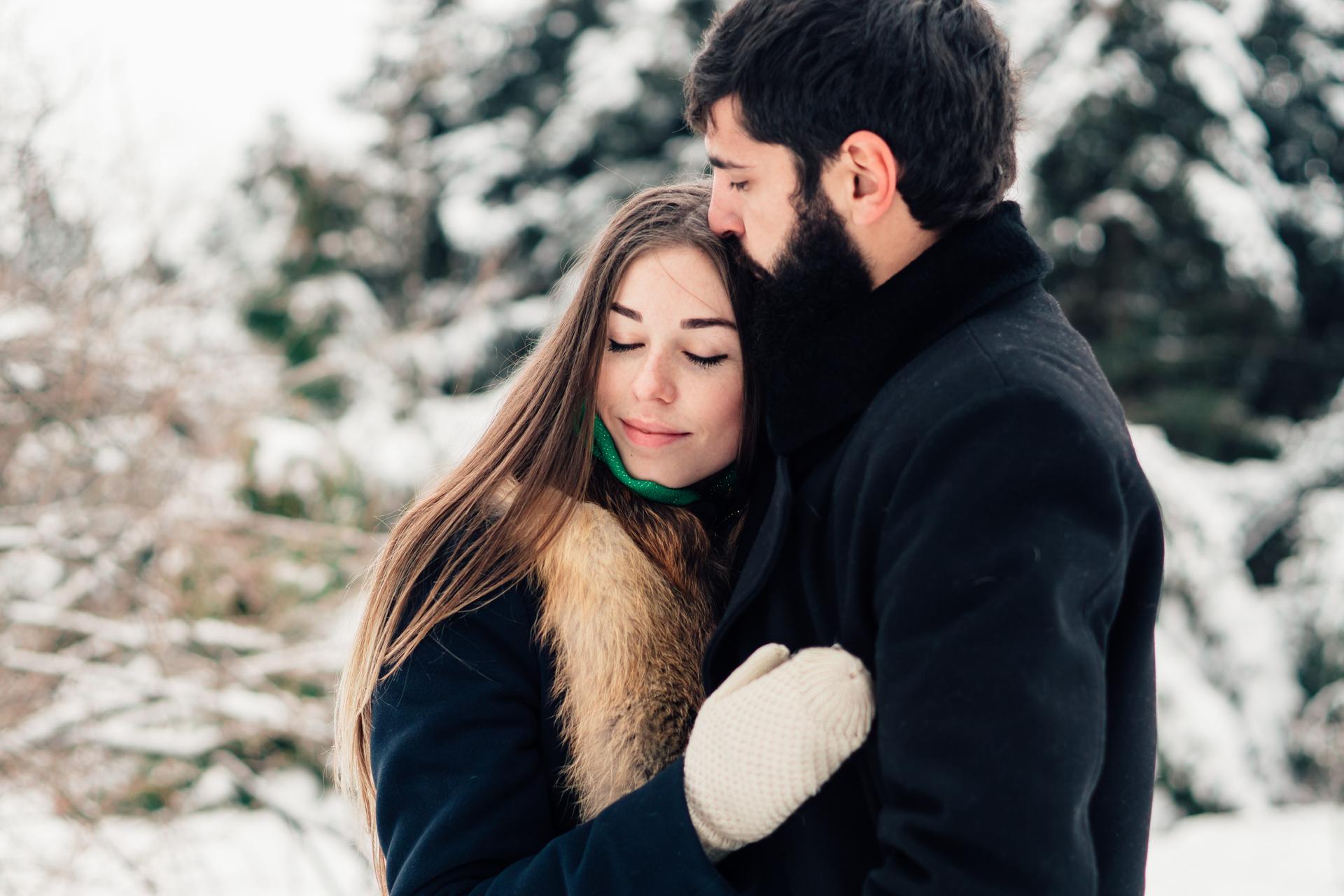 Фотосессия с любимым зимой