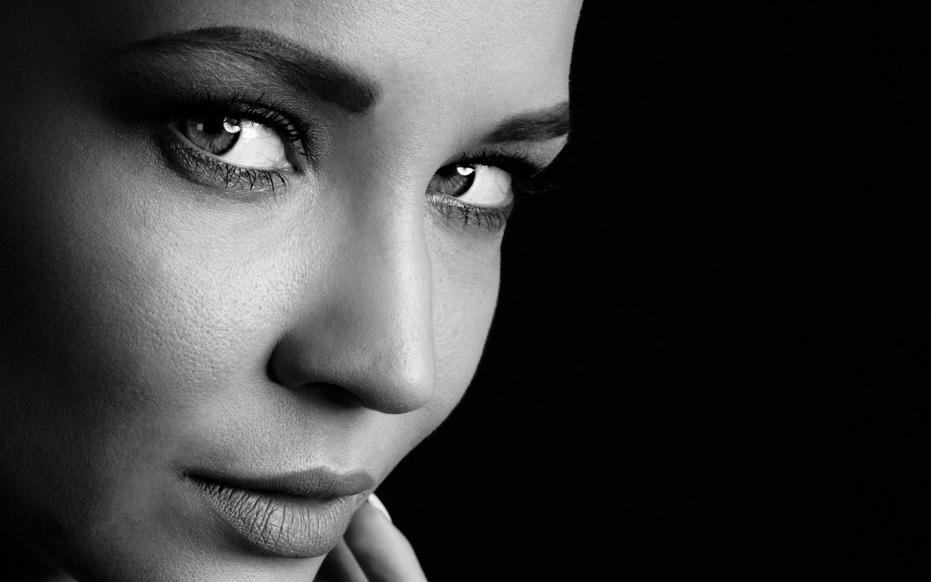 Фото картинки черно белые лицо